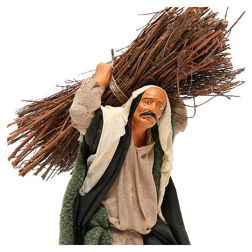 Nativity set accessory Wood cutter 14 cm figurine 2