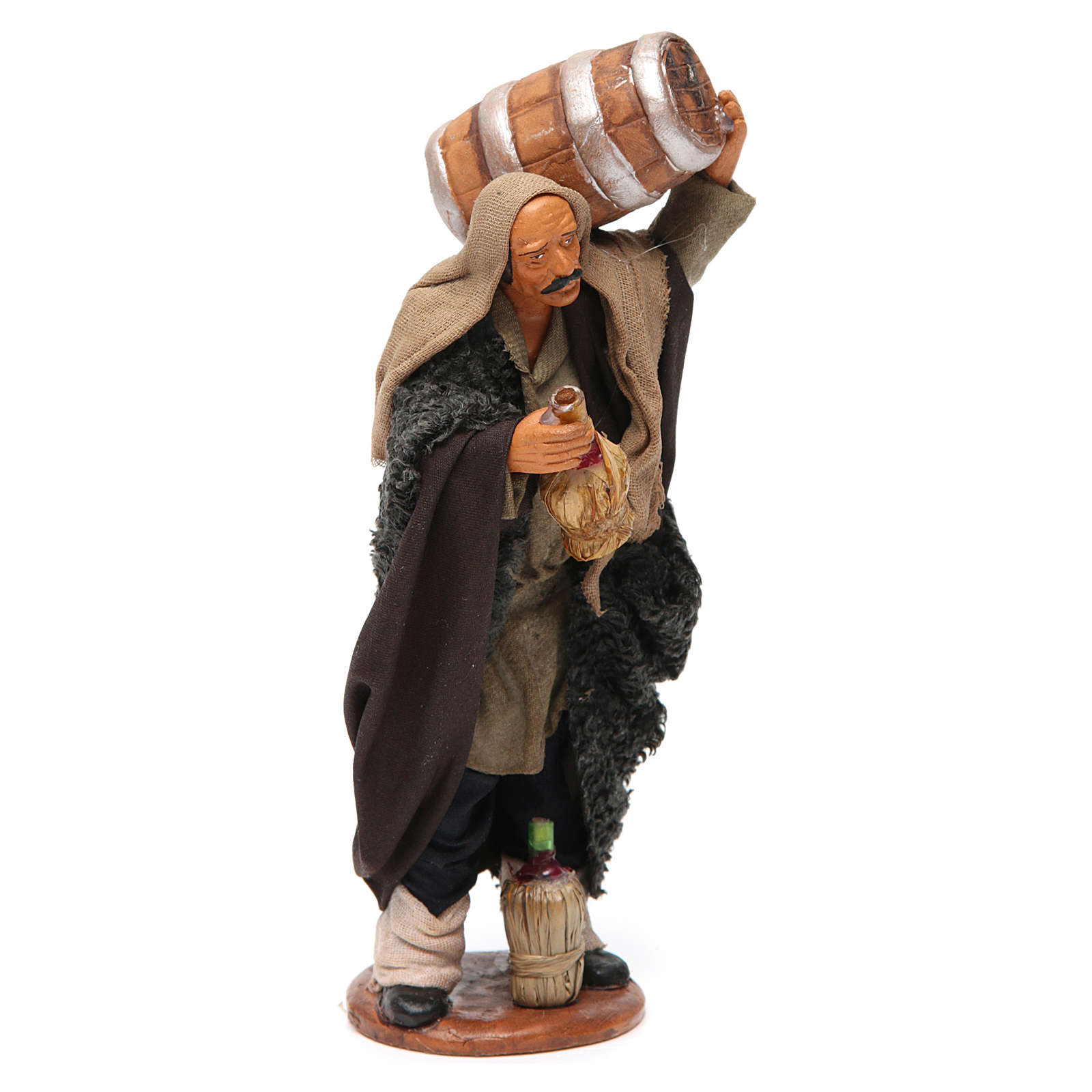 Nativity set accessory Man with barrel and flask 14 cm figurine 4