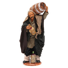 Nativity set accessory Man with barrel and flask 14 cm figurine s1