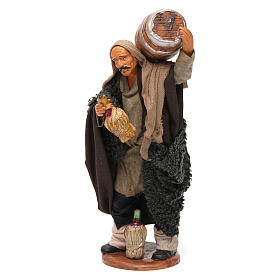 Nativity set accessory Man with barrel and flask 14 cm figurine s3