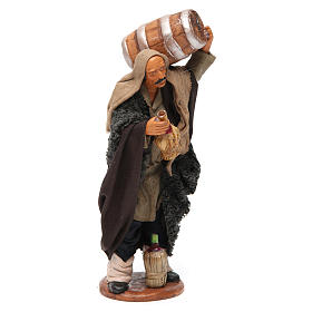 Nativity set accessory Man with barrel and flask 14 cm figurine s4