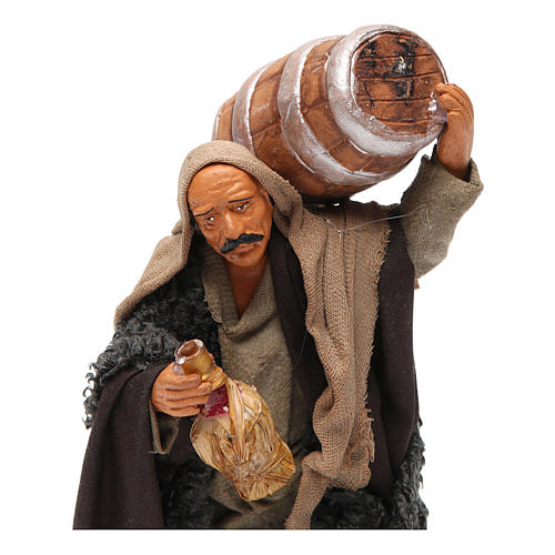 Nativity set accessory Man with barrel and flask 14 cm figurine 2