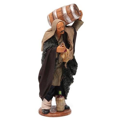 Homme avec tonneau et fiasque 14 cm 4