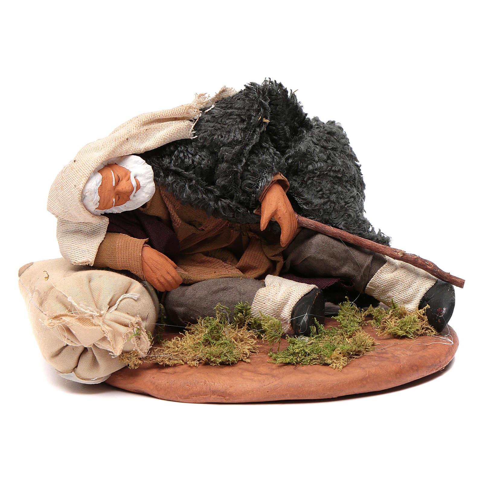 Nativity set accessory man asleep 14 cm figurine 4