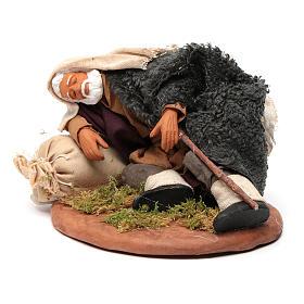 Nativity set accessory man asleep 14 cm figurine s2