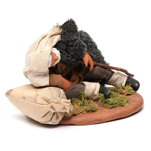 Nativity set accessory man asleep 14 cm figurine 3