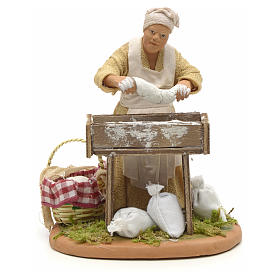 Nativity set accessory woman making bread 14 cm figurine s1