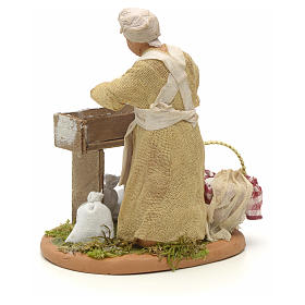 Nativity set accessory woman making bread 14 cm figurine s3