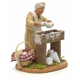 Nativity set accessory woman making bread 14 cm figurine s4