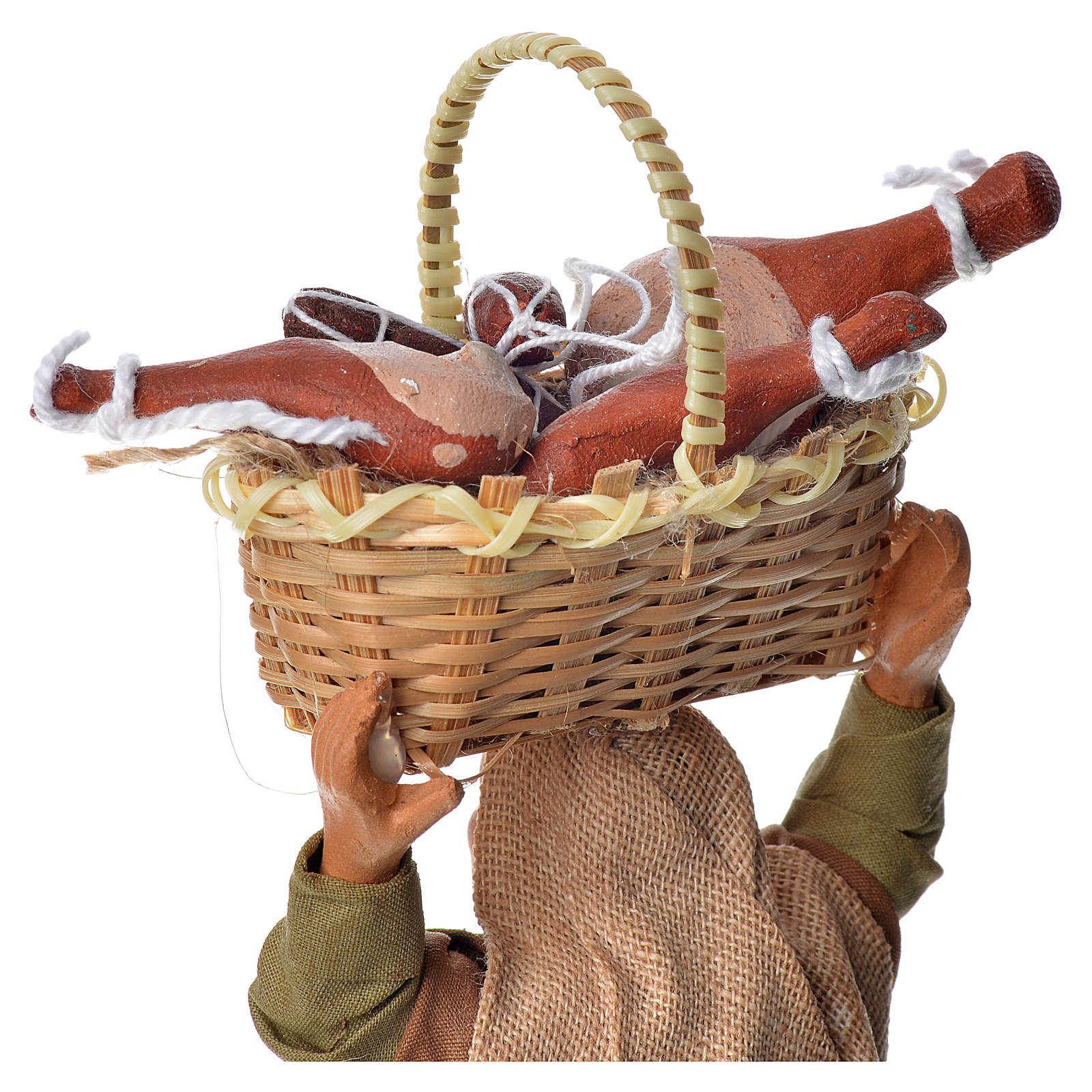 Mujer con cesto de pan 14 cm 4