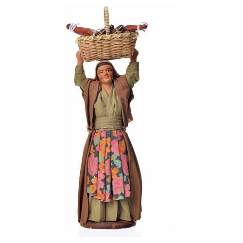 Mujer con cesto de pan 14 cm 1