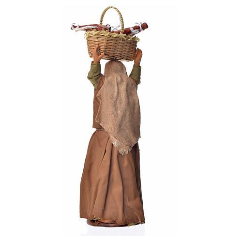 Mujer con cesto de pan 14 cm 2