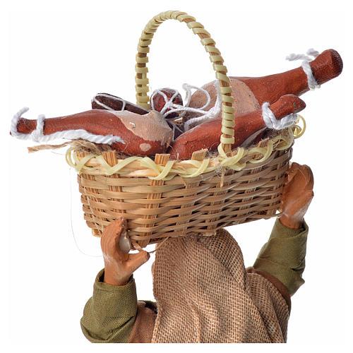 Mujer con cesto de pan 14 cm 3