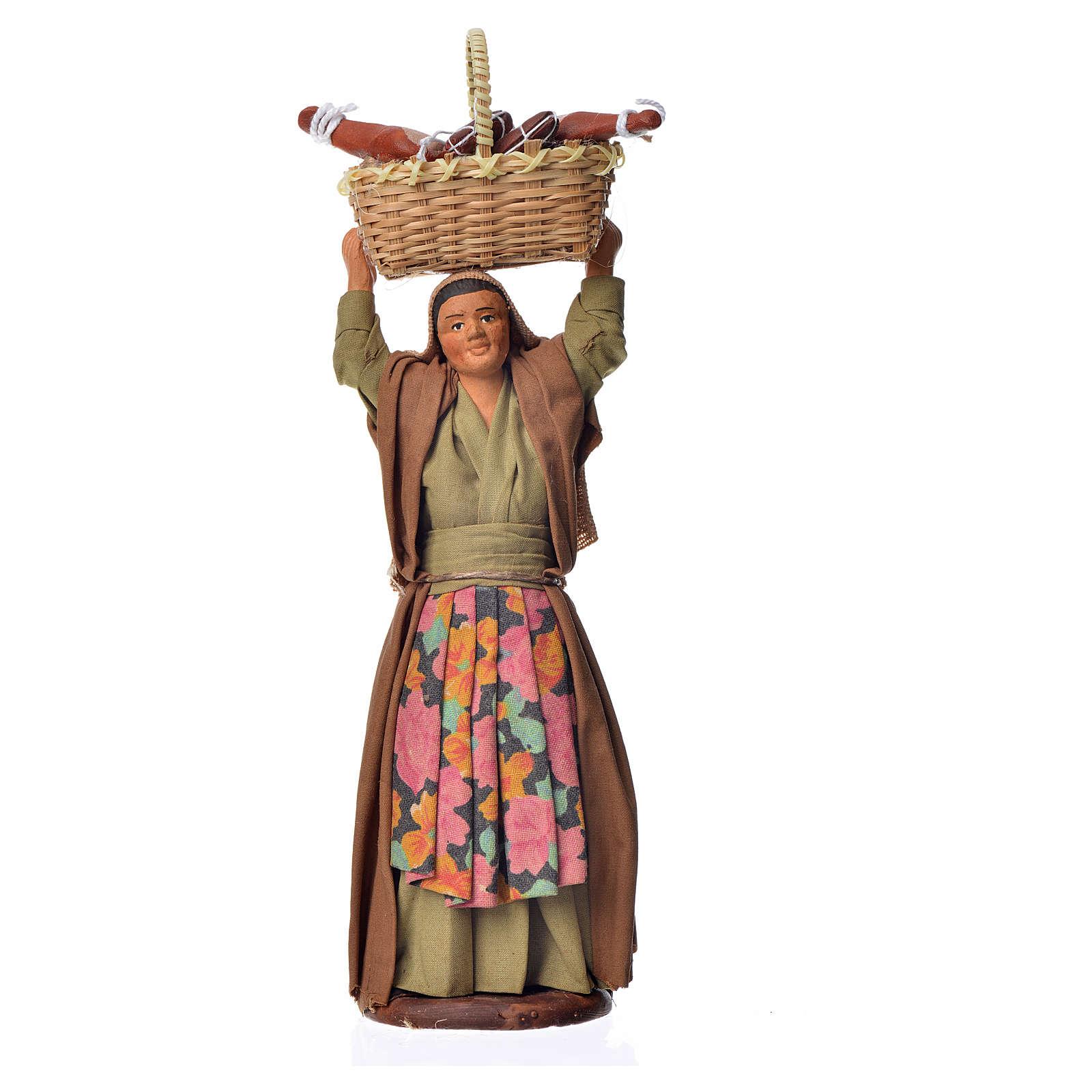 Femme avec panier cm 14 4