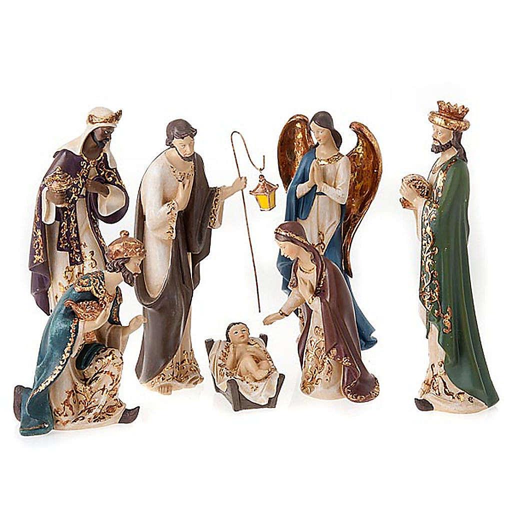 Nativity scene in resin, 33 cm 4