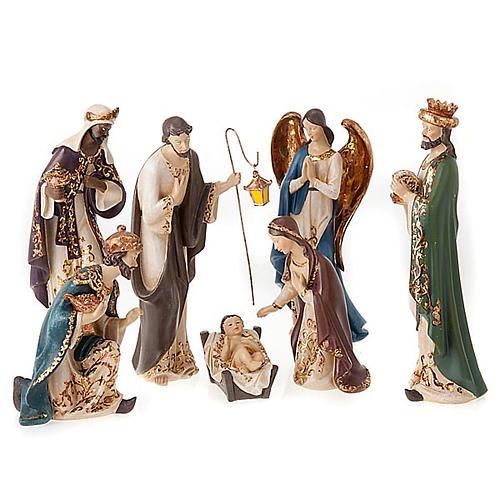 Nativity scene in resin, 33 cm 1