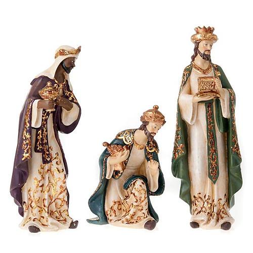 Nativity scene in resin, 33 cm 5