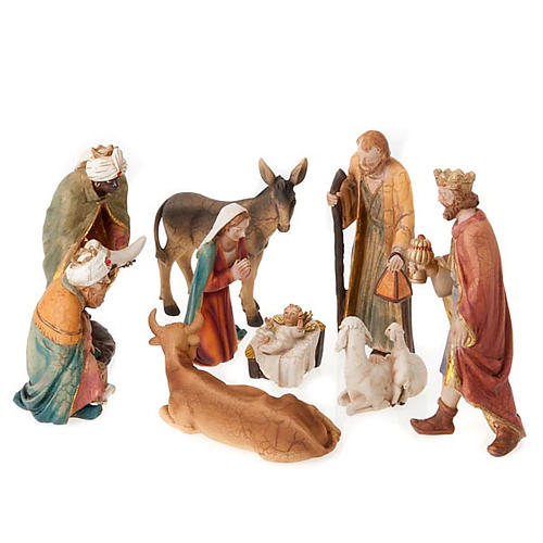 Nativity set scene 21 cm tall crib 1