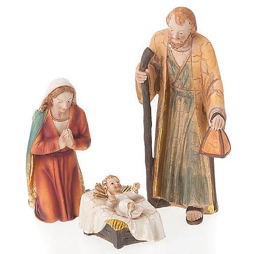 Nativity set scene 21 cm tall crib 6