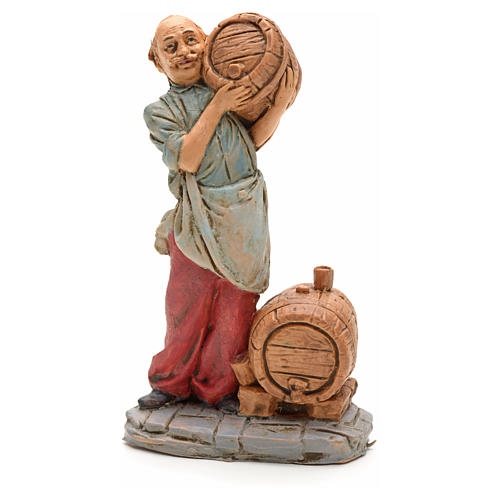 Nativity set figurine, cellar man with barrel 10cm 1