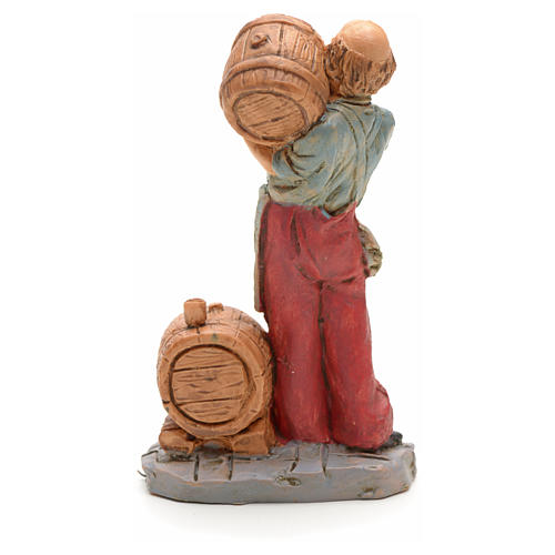 Nativity set figurine, cellar man with barrel 10cm 2