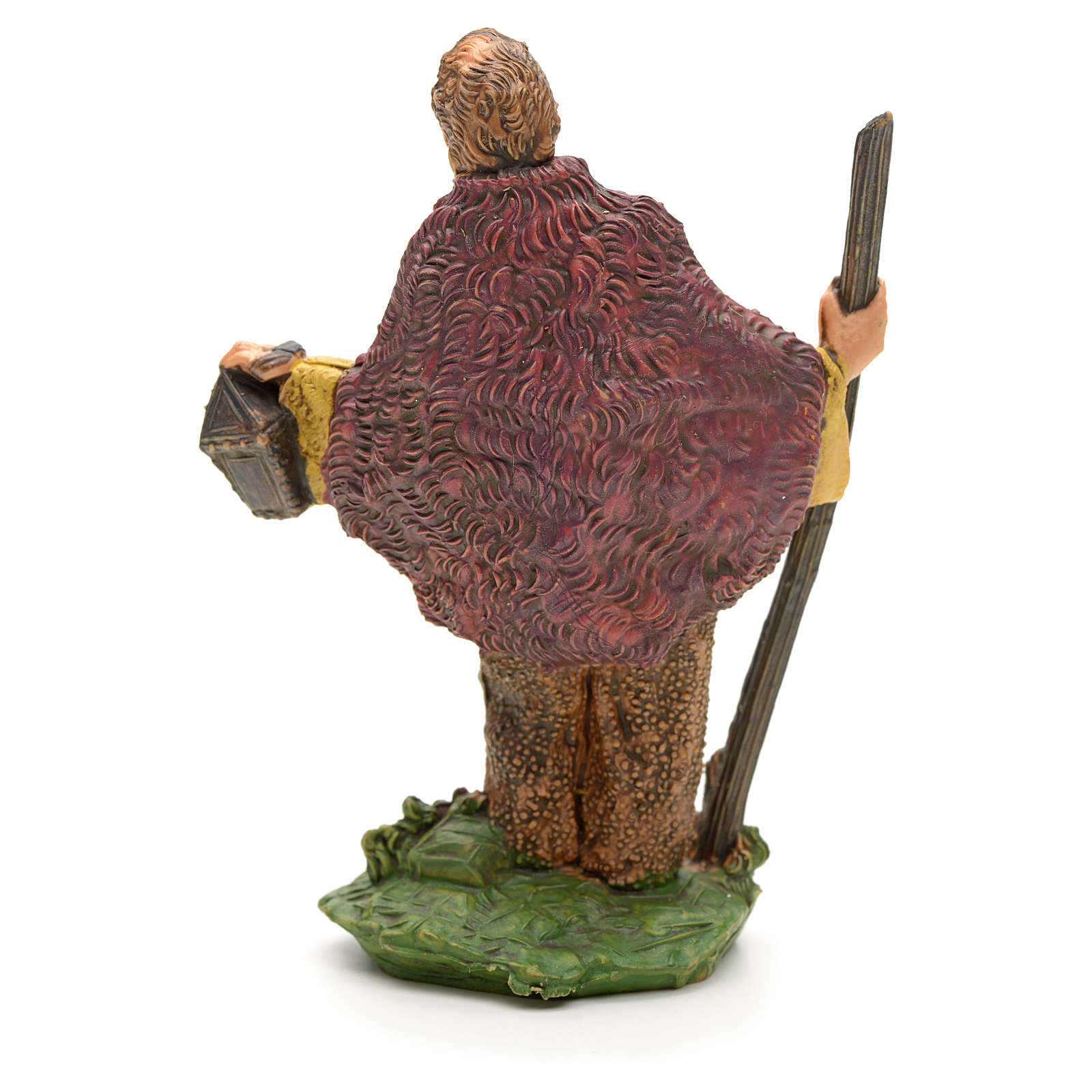 Berger avec bâton et lanterne 8 cm 3