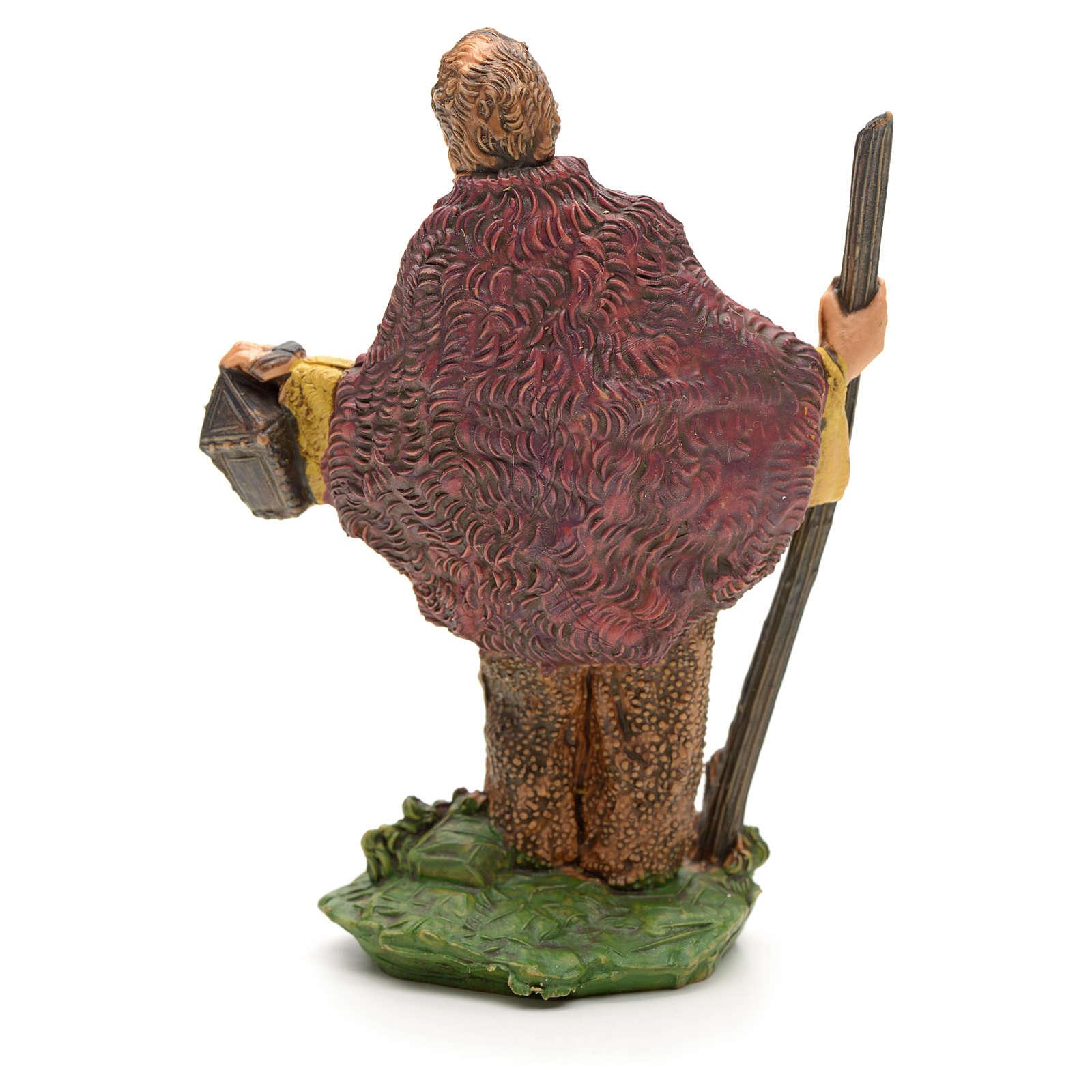 Pastore con bastone e lanterna 8 cm 3