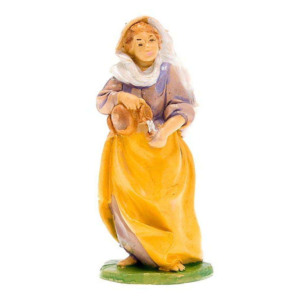Donna con brocca di vino 10 cm 3