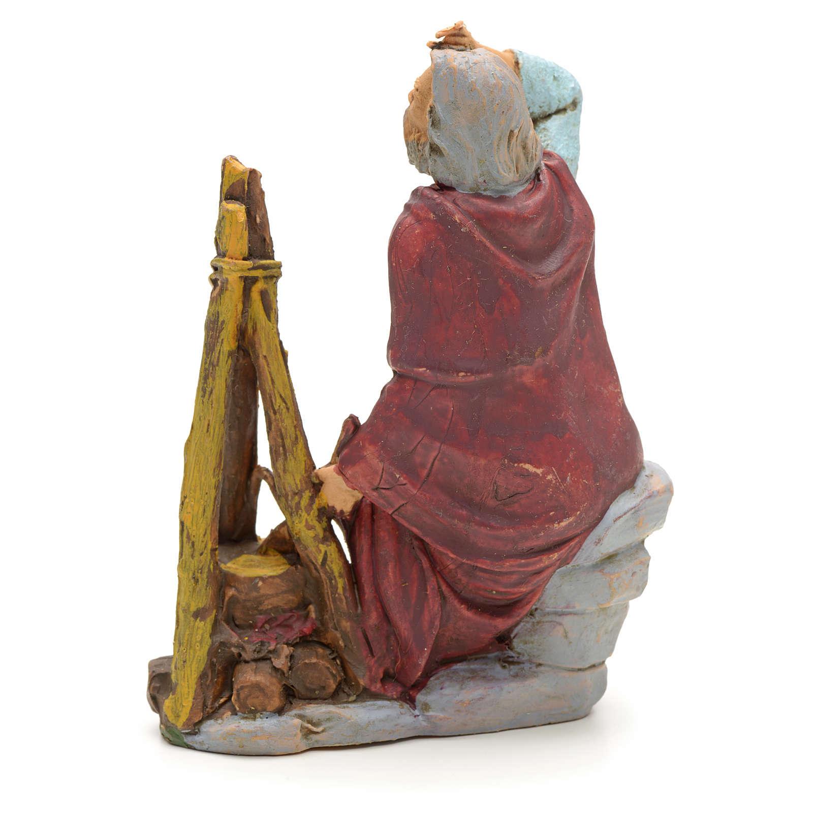 Pastore seduto con fuoco 13 cm 3