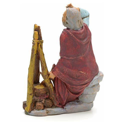 Pastore seduto con fuoco 13 cm 2