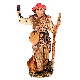 Pastore con fiaccola e bastone 13 cm s1