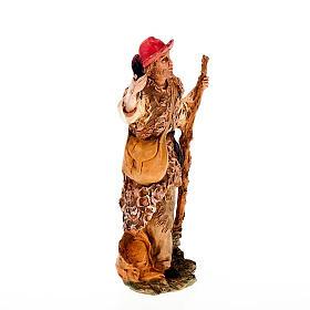 Pastore con fiaccola e bastone 13 cm s2