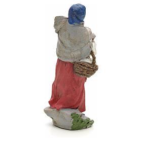 Donna con pane nel cesto 13 cm s2