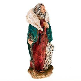 Pastore pecora sulle spalle e cane 13 cm s2