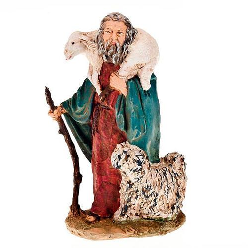 Pastore pecora sulle spalle e cane 13 cm 1
