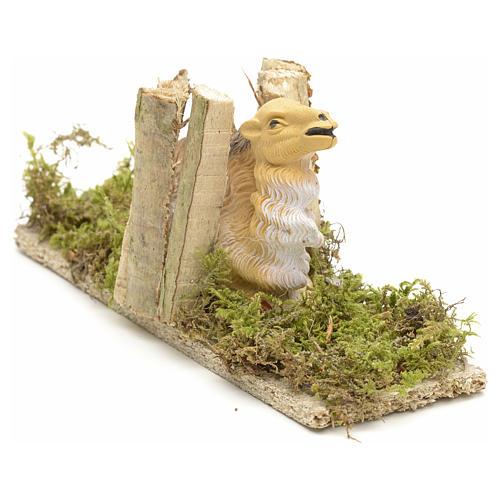 Cammello seduto con carico di legna cm 10 2