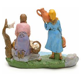 Blanchisseuse avec femme,article pour crèche 10 cm s2