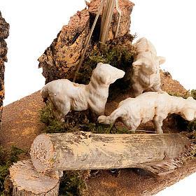 Pecorelle e piante ambientazione presepe 8-10 cm s2