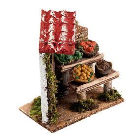Banchetto di frutta e damigiana con portico e porta presepe s2