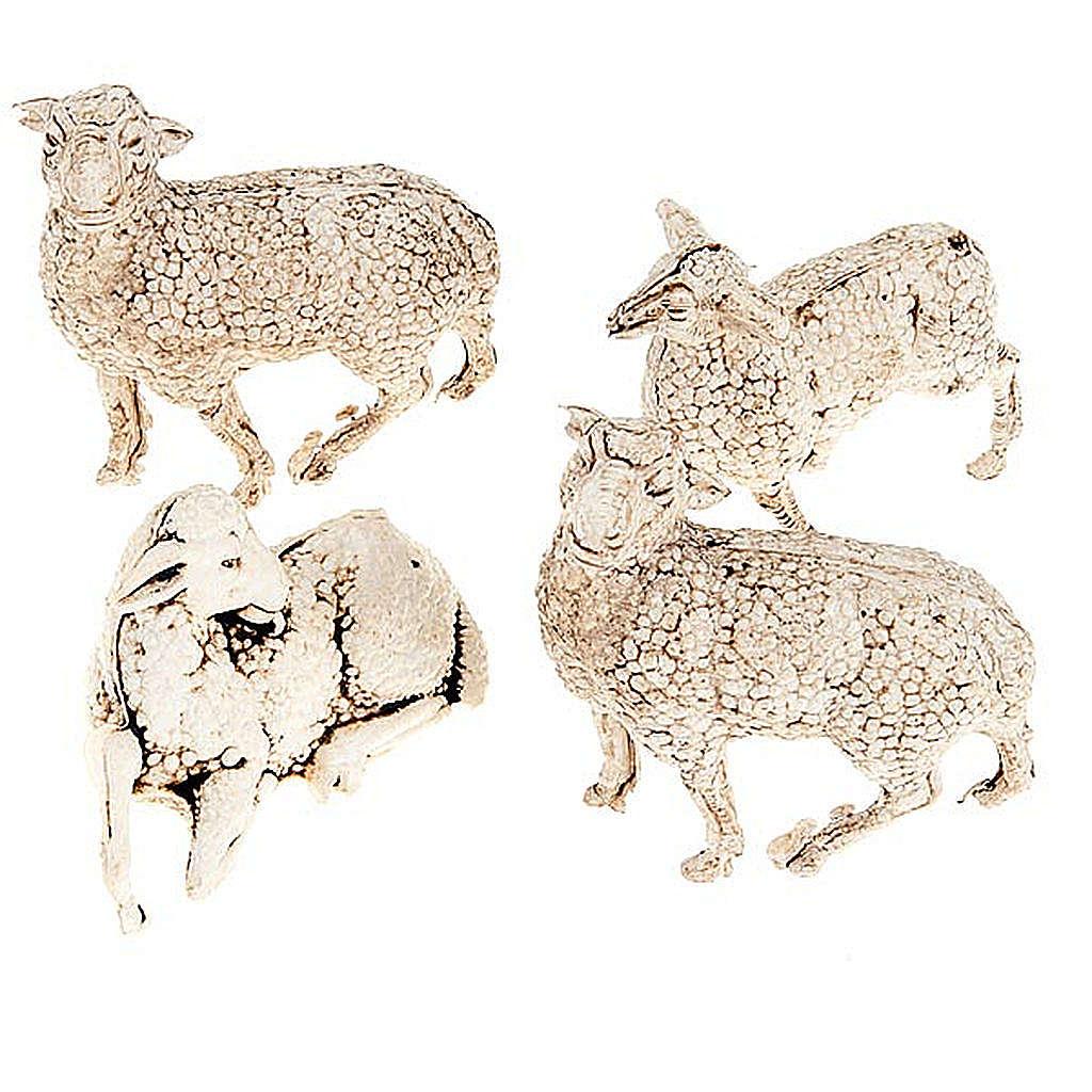 Pecorelle presepe set 4 pz. cm 8-10 3
