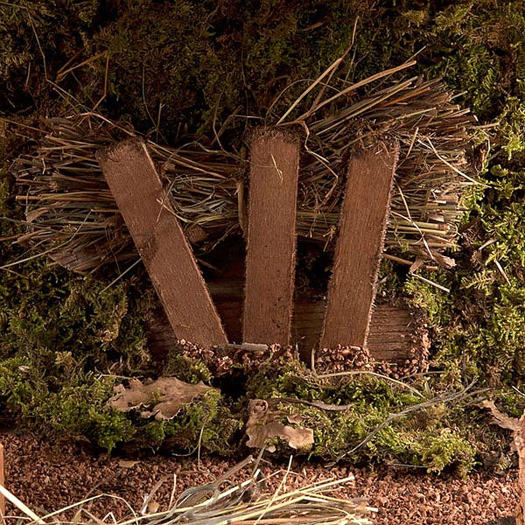 Capanna presepe vuota tetto doppio e fascine 43X24X25 4