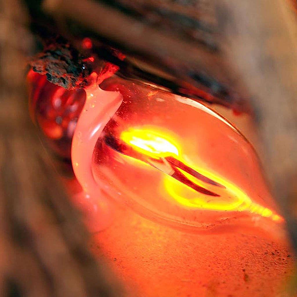 Fuoco elettrico per presepe con pali fascine muschio 20x14x16 4