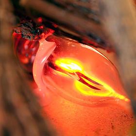 Fuoco elettrico per presepe con pali fascine muschio 20x14x16 s2