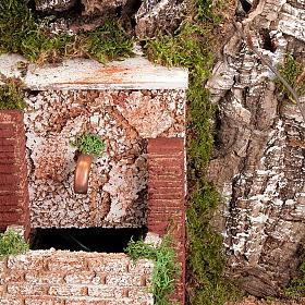 STOCK Grotta per presepe, fontana e borgo 60X40X50 s3