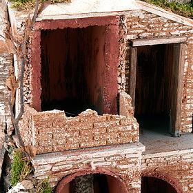STOCK Grotta per presepe, fontana e borgo 60X40X50 s4