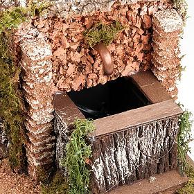 Grotta per presepe: borgo e fontana 60x40x50 s3