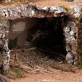 Grotta per presepe: borgo e fontana 60x40x50 s4