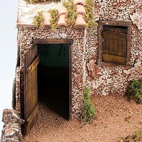 Grotta per presepe: borgo e fontana 60x40x50 s5
