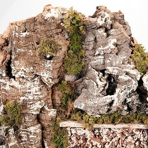 Grotta per presepe: borgo e fontana 60x40x50 2