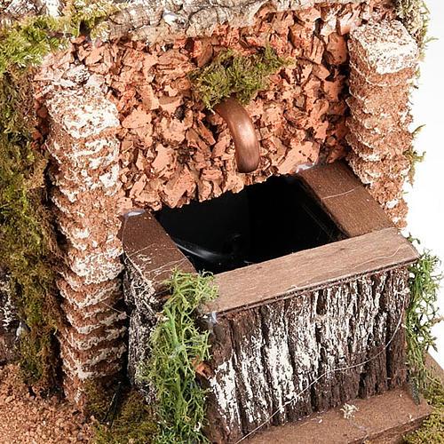 Grotta per presepe: borgo e fontana 60x40x50 3